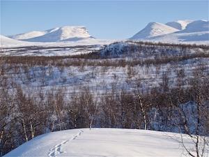 randonnee-raquettes Abisko-Kiruna-Suède