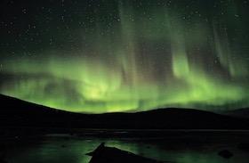 Suède, Aurore boréale, Laponie, Kiruna, Sapmi