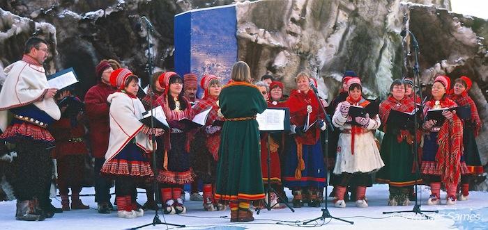 Marché d'hiver en Laponie suédoise