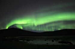 Suède Laponie Aurore boréale