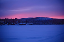 Randonnée raquettes suède Laponie Kiruna