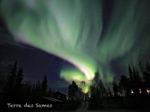 Aurore boréale Suède Laponie Kiruna