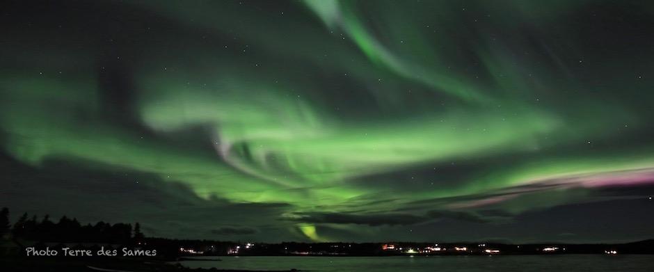 Laponie aurore boréale Suède Kiruna