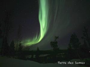 Suède Laponie Kiruna aurore boréale