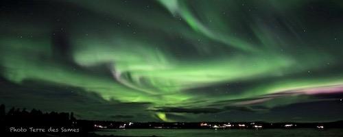 Aurore boréale en Laponie Kiruna