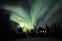 Aurore boréale Kiruna Laponie suedoise