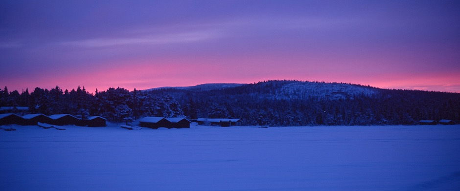 Hiver Suède Laponie Kiruna