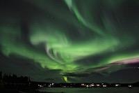 Laponie suédoise Kiruna Aurore boréale