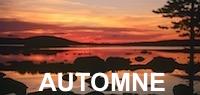Suède coucher de soleil Laponie automne