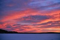 ciel de novembre, Laponie suédoise, Kiruna, Sapmi