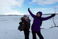 Randonnées raquettes kiruna, Laponie suédoise, Sapmi