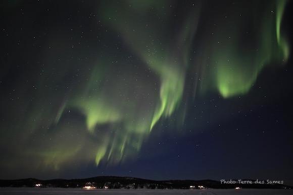 Laponie suédoise aurore boréale