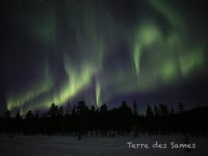 Aurore boréale Suède Kiruna