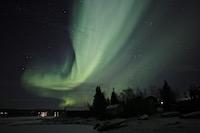 Aurore boréale près de Kiruna Laponie suédoise