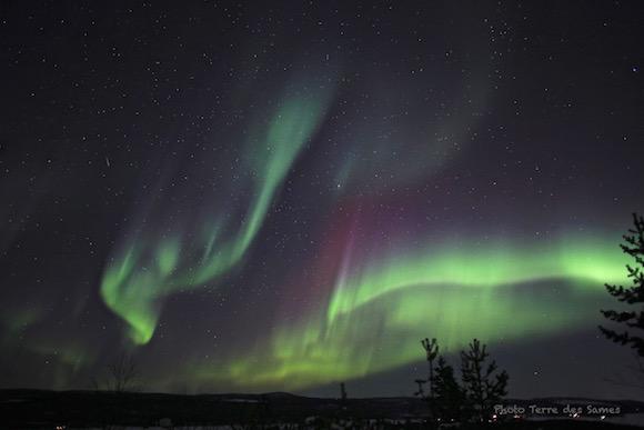 Aurore boréale Laponie Kiruna Suède