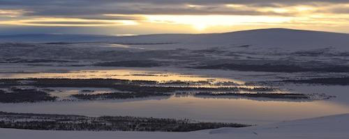 Randonnée en raquettes Laponie suédoise Kiruna