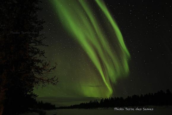 Aurore boréale Kiruna Laponie Suède